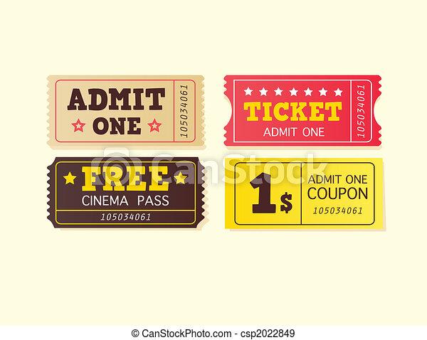 Vintage cinema tickets - csp2022849