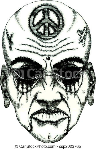 tattoo daemon face - csp2023765