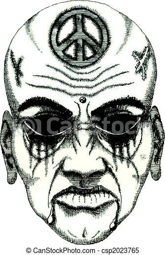 Stock illustrationen von t towierung d mon gesicht ohne augenpaar csp2023765 suchen sie - Dessin de demon ...