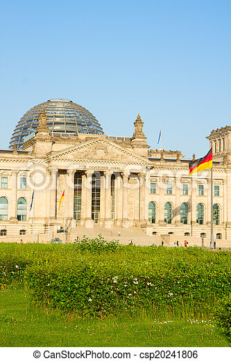 Reichstag building (german government) in Berlin, Germany - csp20241806