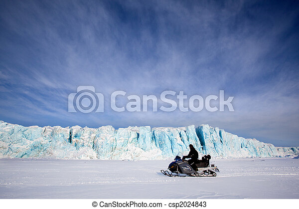 Glacier with Snowmobile - csp2024843