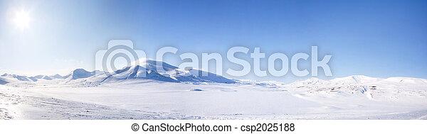 hiver, paysage - csp2025188