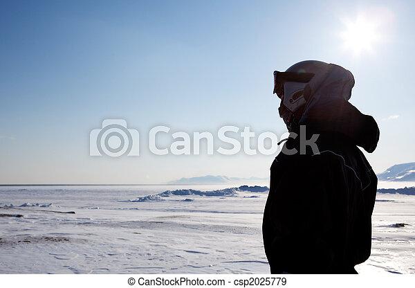 Man on Winter Landscape - csp2025779