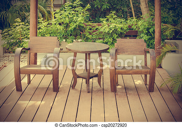 wooden chairs - csp20272920