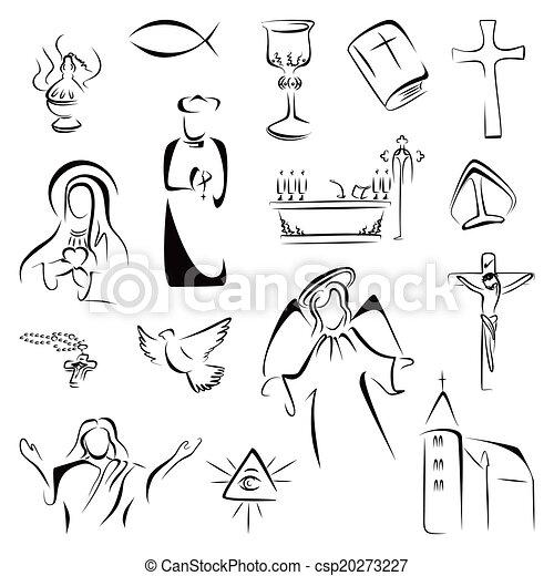 Religion icons - csp20273227
