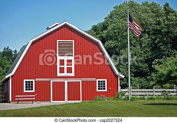 banco de imagens de vermelho celeiro luminoso vermelho celeiro com um csp2027324. Black Bedroom Furniture Sets. Home Design Ideas