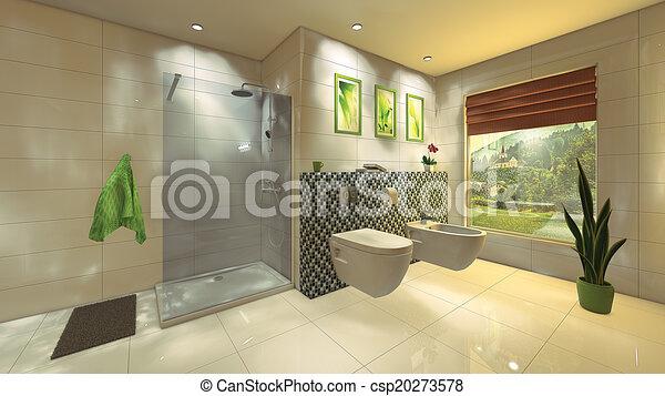 stock illustrationen von modern badezimmer mosaik wand a modern badezimmer. Black Bedroom Furniture Sets. Home Design Ideas