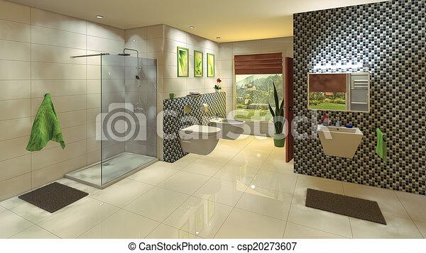 modern badezimmer mosaik wand - Badezimmer Mosaik Modern