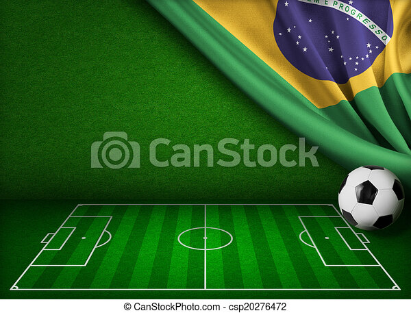 Soccer world cup in Brazil concept background  - csp20276472