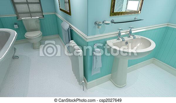 contemporary bathroom  - csp2027649