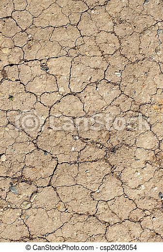 Cracked mud abstract background. - csp2028054