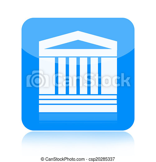 Government building icon - csp20285337