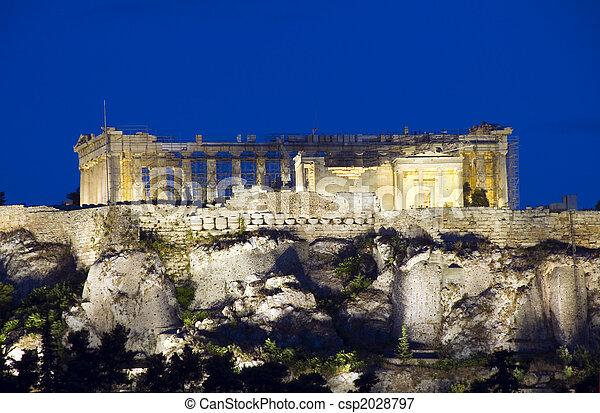 parthenon acropolis reconstruction athens greece - csp2028797