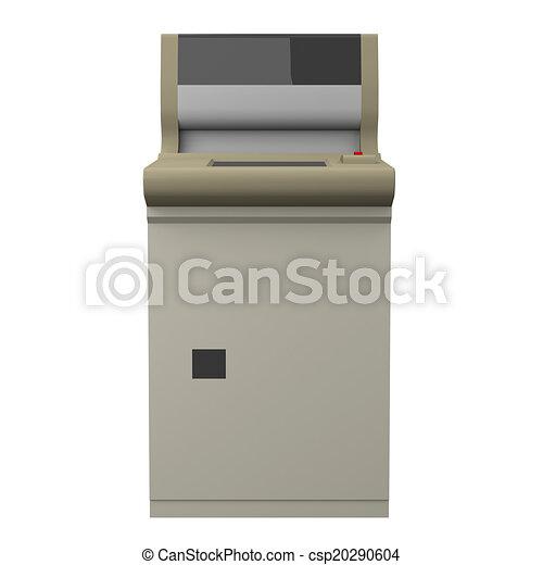 機械, 金銭出納係, 自動化されたストックイラストレーション