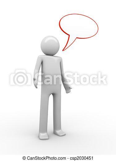 Comics-styled speaking man - csp2030451