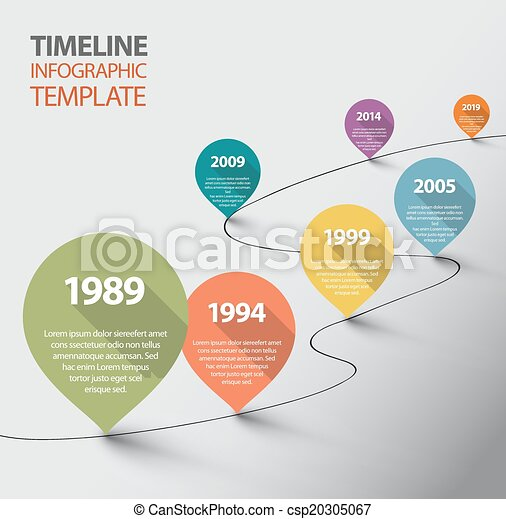 Infographic Templates free timeline infographic templates : Clip Art Vector of Infographic Timeline Template with pointers ...
