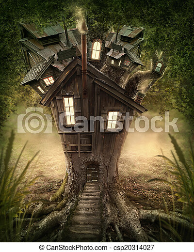 Fantasy tree house - csp20314027