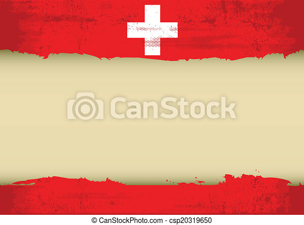 Swiss scratched flag - csp20319650