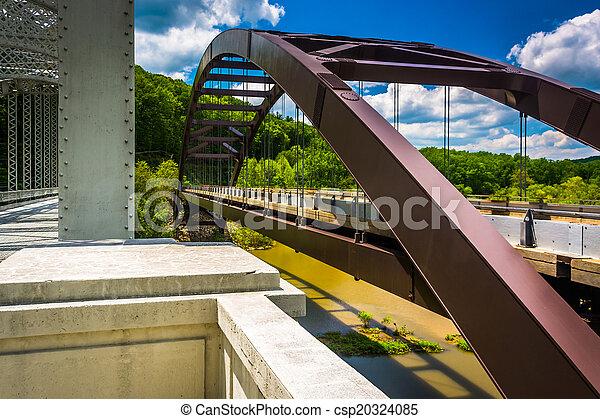 Bridges over Loch Raven Reservoir, in Baltimore, Maryland.  - csp20324085