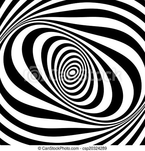 Whirl movement illusion. Op art design. .  - csp20324289