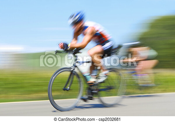 Racing bicycles, motion blur - csp2032681
