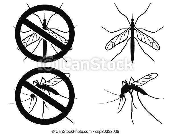 Mosquitoes warning symbol - csp20332039