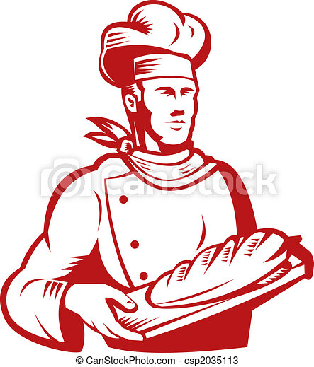 Baker with bread - csp2035113