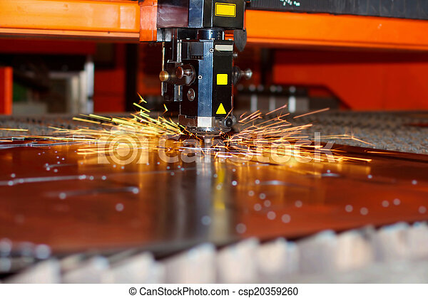 Industrial laser with sparks - csp20359260