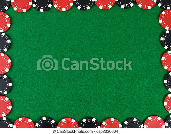 Frame with poker chips - csp2036604