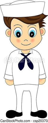 cute sailor in uniform - csp2037023