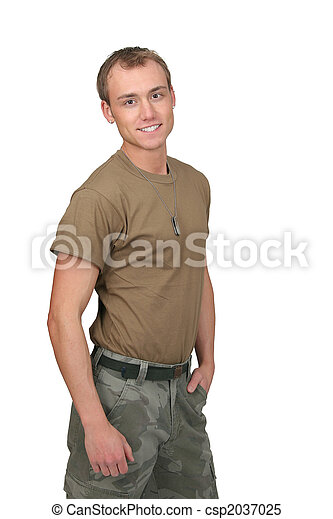 army soldier guy - csp2037025