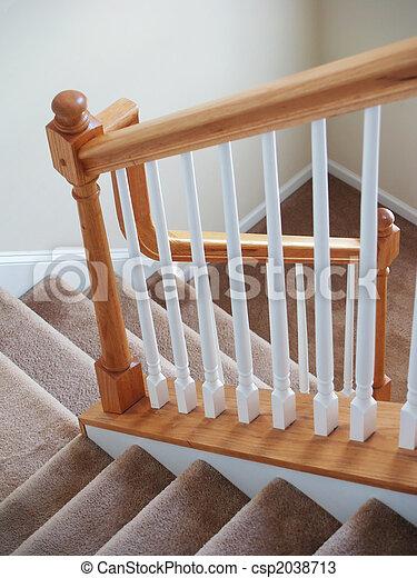 photos de escalier moquett vertical a vue bas a escalier csp2038713 recherchez. Black Bedroom Furniture Sets. Home Design Ideas