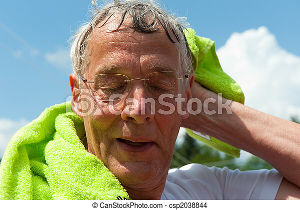 Elderly sportsman - csp2038844