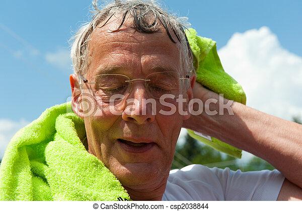 Elderly sportsman - csp2038844