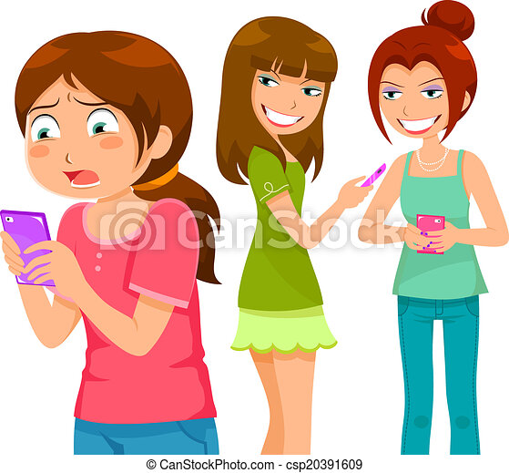Clip Art Bullying Clip Art bullying illustrations and stock art 2146 illustration clipartby olikli3492 through cell phone girl being by her