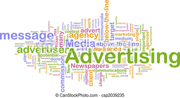 Advertising word cloud - csp2039235