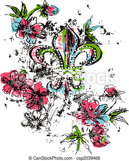 Royalty logo flower - csp2039466