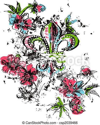 Royalty logo flower - csp2039466