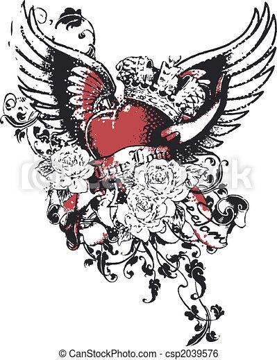 Heart crown sin religion - csp2039576