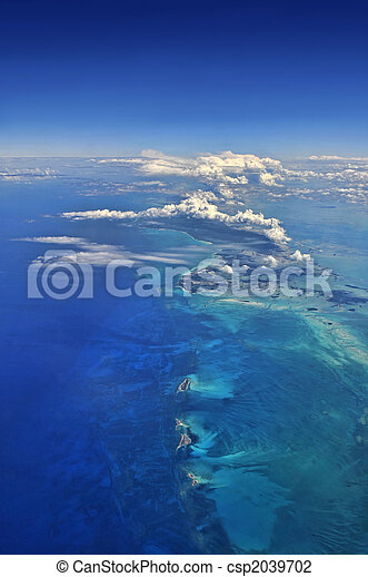 Aerial view over the caribbean - csp2039702