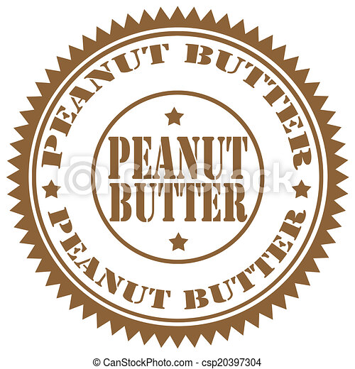 Vector Clipart of Peanut Butter-stamp - Rubber stamp with text ...