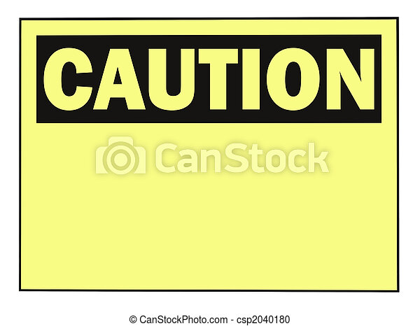 Caution Warning Sign - csp2040180