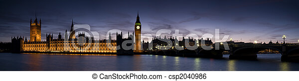 XXL - Houses of Parliament at Twilight - csp2040986