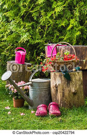 de Photographies de Printemps, jardin, Outils, ustensiles, jardinage ...