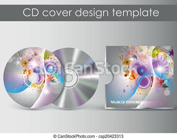 cd case artwork template - vector clip art of cd cover presentation design template