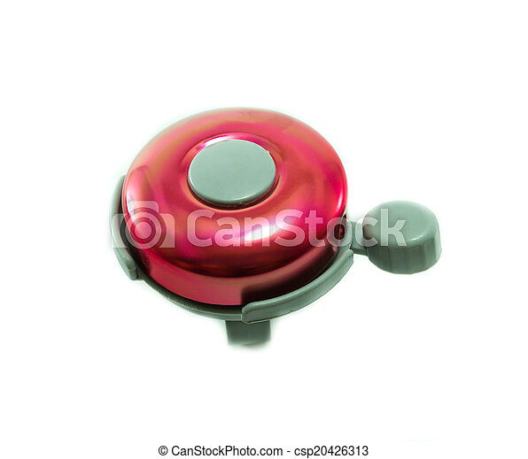 bicycle bell on white background - csp20426313