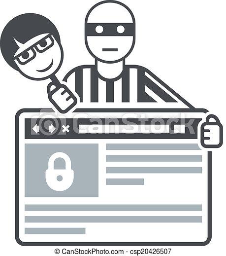 clipart vecteur de internet  hypocrite  swindler    payme Safety Equipment Clip Art Computer Safety Clip Art