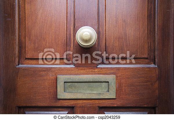 front door - csp2043259