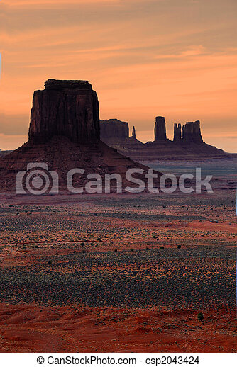 Monument Valley At Sunset - csp2043424
