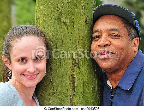 Interracial couple - csp2043506